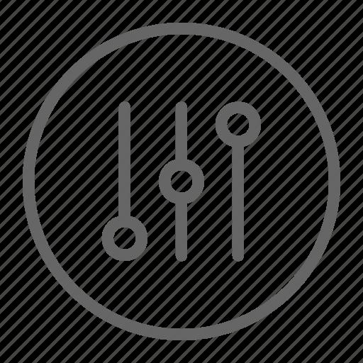 equalizer, settings, tweaks icon