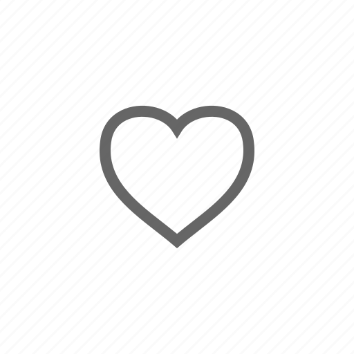 bookmark, collection, favorite, heart, like, love, outline icon