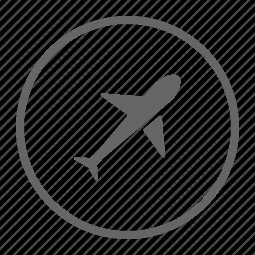 airport, flight, plane, transport, travel icon