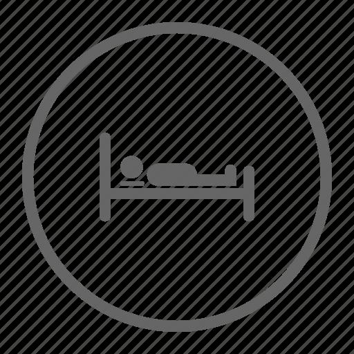 bed, bedroom, relax icon, sleep, sleeping icon