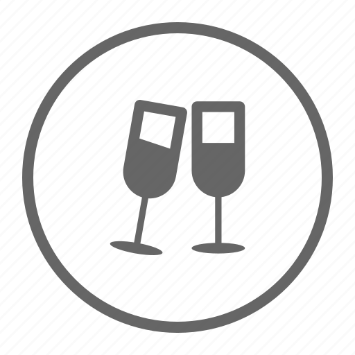 celebration, champagne, drink, glasses, holidays, party icon