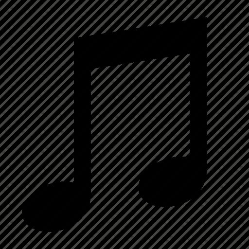 music, note, quavers icon