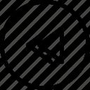 backward, interface, media, music icon