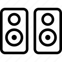 peaker, sound, stereos icon