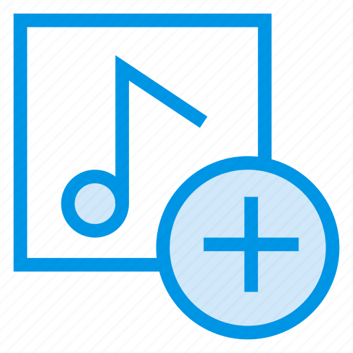 add, audio, media, music, player, songs, sound icon