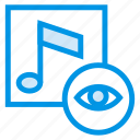 album, audio, magnify, media, music, search, view icon