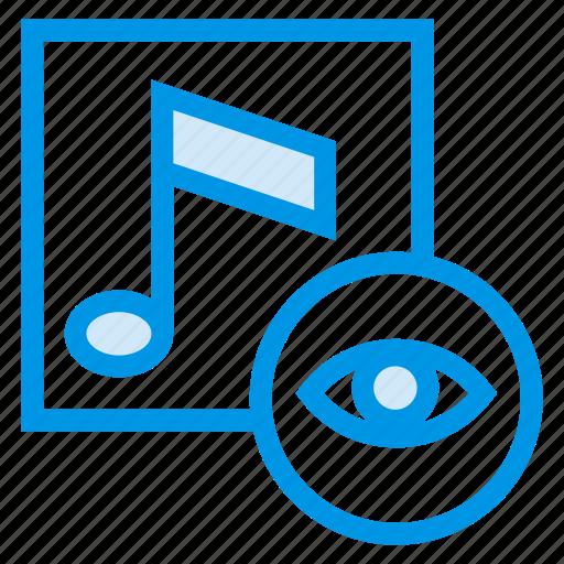 album, audio, magnify, media, music, search, view icon