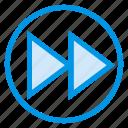 arrow, arrows, fast, forward, increment, media, next
