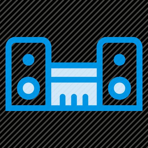 audio, dac, equalizer, multimedia, music, speaker, system icon