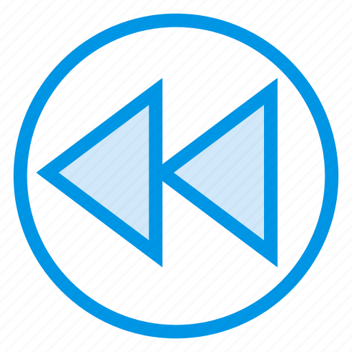 backward, direction, media, multimedia, previous, reverse, rewind icon