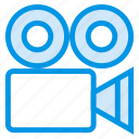 camera, digital, electronic, multimedia, record, video, videocamera icon