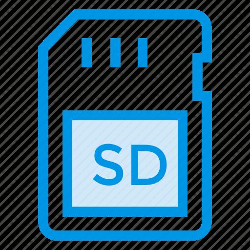 card, device, memory, memorycard, micro, sd, tecknology icon