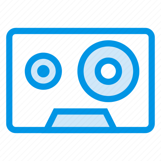 audiotape, cassette, music, player, record, stereo, tape icon