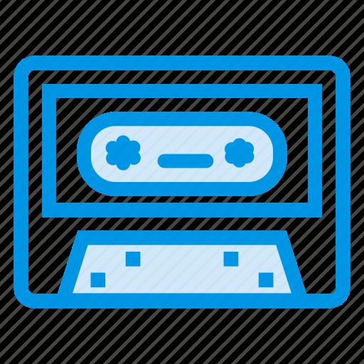 audiotape, cassette, cassettetape, compactcassette, music, record, tape icon