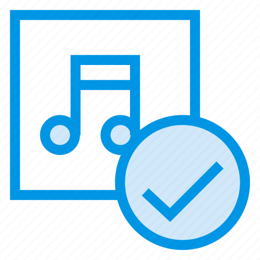 audio, check, media, microphone, music, sound, voice icon