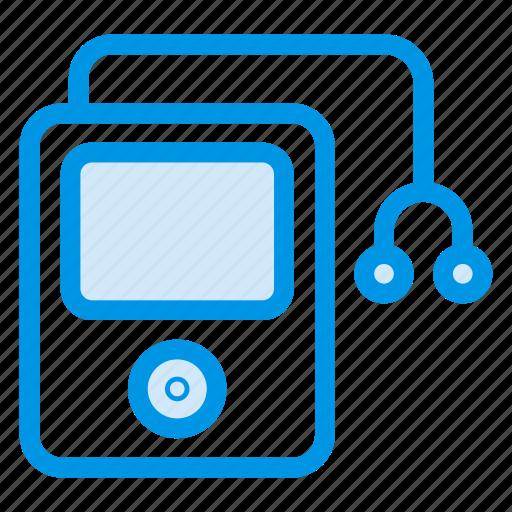 headphones, ipod, mp3, multimedia, music, nano, player icon