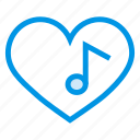 happy, heart, like, love, music, sound, valentine icon