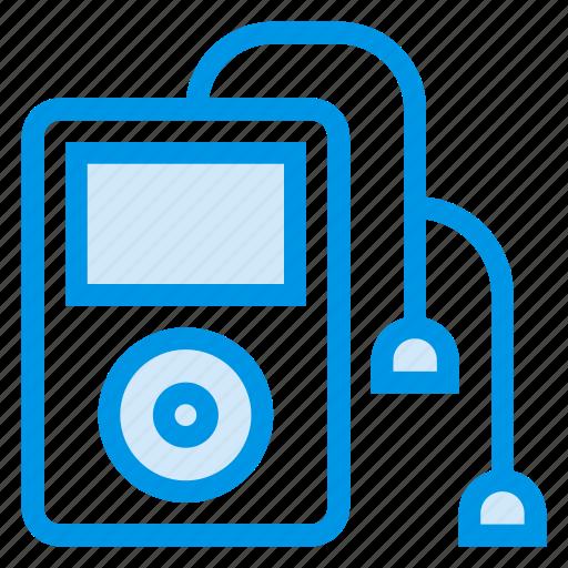 earphones, headphones, ipod, mp3, multimedia, music, player icon