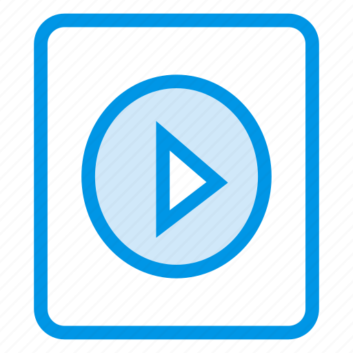 audio, film, movie, play, playlist, video icon