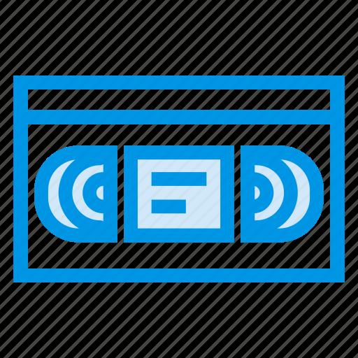 cassette, entertainment, film, movie, record, recorder, video icon