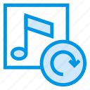audio, cover, multimedia, music, refresh, reload, sound icon