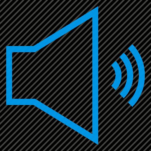 audio, broadcast, loudspeaker, megaphone, multimeda, sound, speaker icon