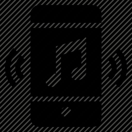 audio, broadcast, media, mobile, multimedia, music, speaker icon