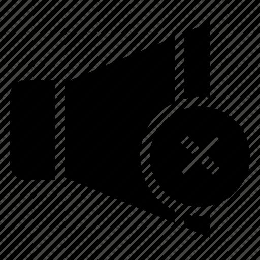 audio, mute, off, silent, sound, speaker, volume icon