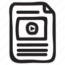 marketing, media, megaphone, play, video, videomarketing, videooptimization icon