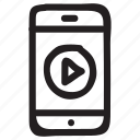 audio, mobile, music, network, play, smartphone, technology icon