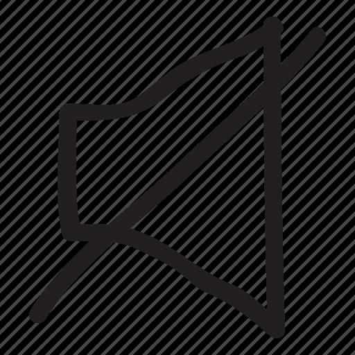 audio, block, mute, ring, silence, sound, volume icon