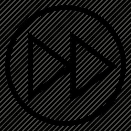 arrow, arrows, fast, forward, increment, media, next icon