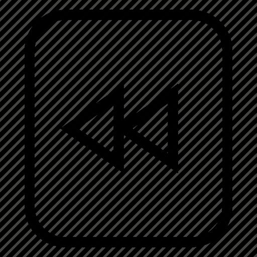 backward, end, media, previous, rewind, sound icon