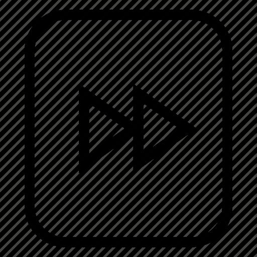 arrow, fast, forward, interface, media, sound icon