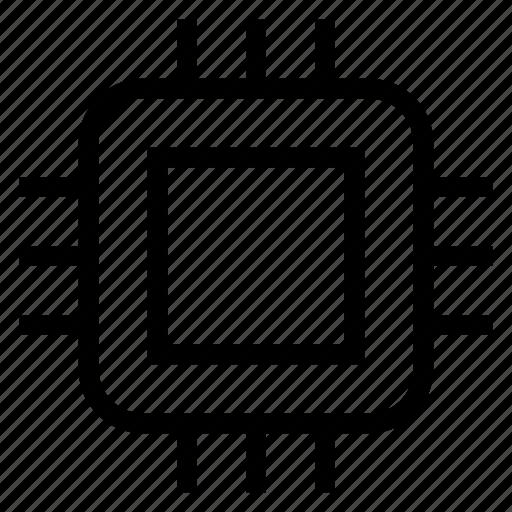 chip, computer, cpu, microchip, multimedia, processor, technology icon