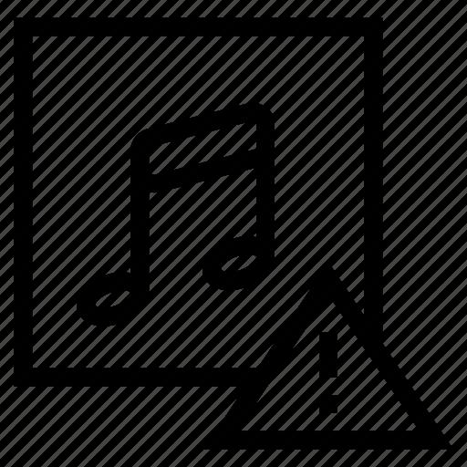 audio, error, media, music, musical, speaker, studio icon