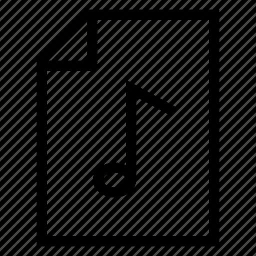 document, file, filemusic, mp3, mp3file, music, sound icon