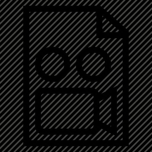 camera, file, mov, movie, video, wmv icon