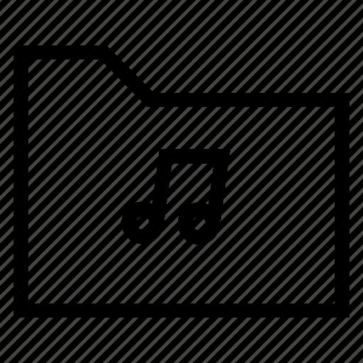 audio, file, folder, gallery, library, media, music icon