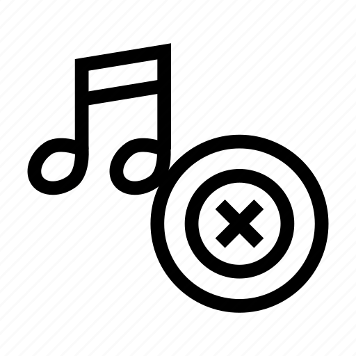 audio, media, music, player, remove, song, track icon