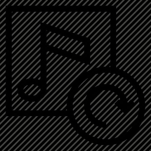 audio, cover, multimedia, music, refresh, reload, sound icon