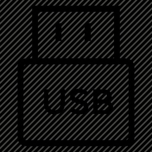 business, device, memory, stick, storage, technology, usb icon