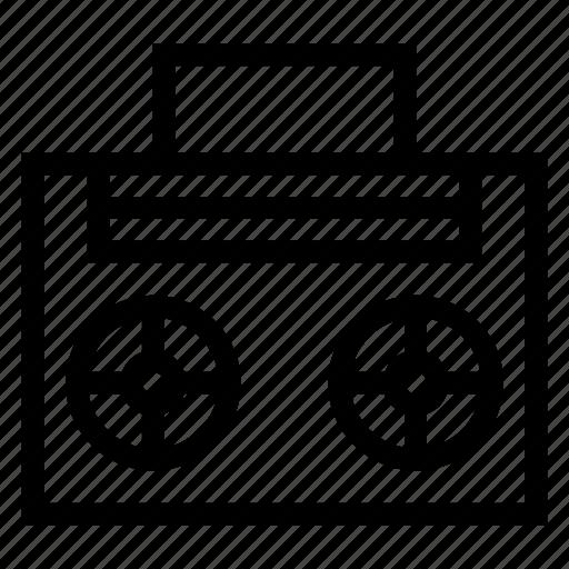 audio, audiotape, cassette, music, sound, tape, video icon