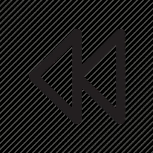 back, backward, mp3 player, music, play, sound icon