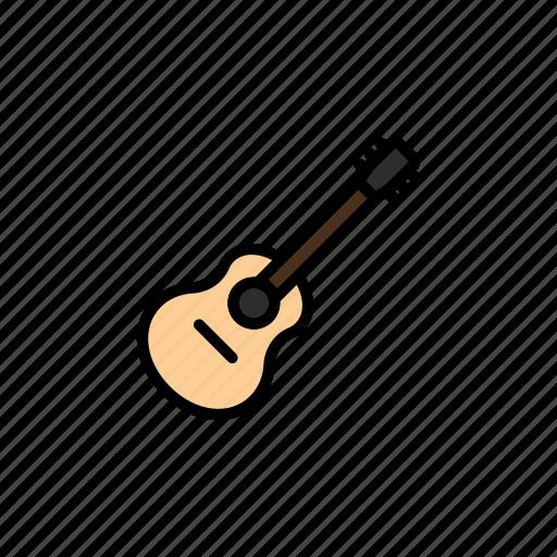 acoustic, concert, festival, guitar, instrument, music icon