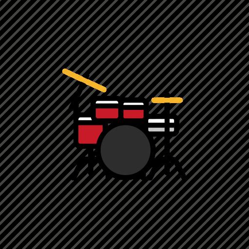 concert, drum, drum set, drums, festival, instrument, music icon