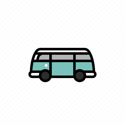 bus, camp, camping, festival, music, travel, van icon