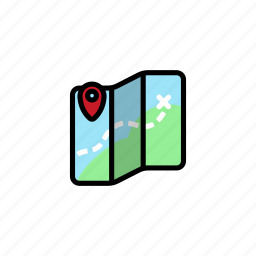 direction, festival, location, map, music icon