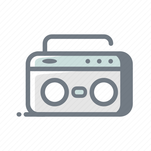 am, fm, music, playlist, radio, tape icon