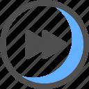 forward, audio, media player, multimedia, music, next, play